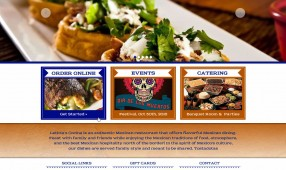 Leticia's Mexican Cocina - website redesign